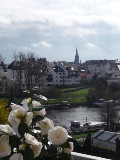 The Erdre seen from the terrace